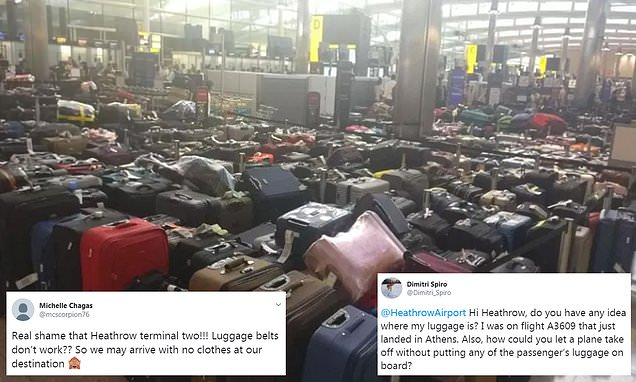 Chaos at Heathrow as passengers forced to fly without luggage