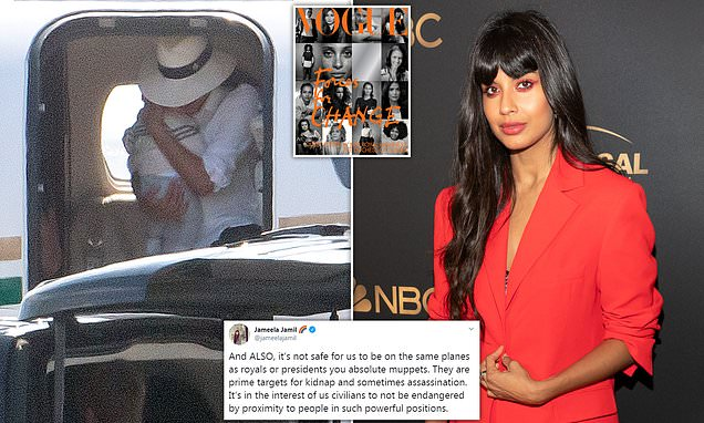 Jameela Jamil defends Prince Harry and Meghan Markle in online rant