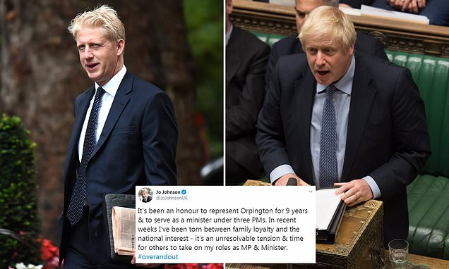 Jo Johnson quits: Boris' brother announces he will resign as an MP