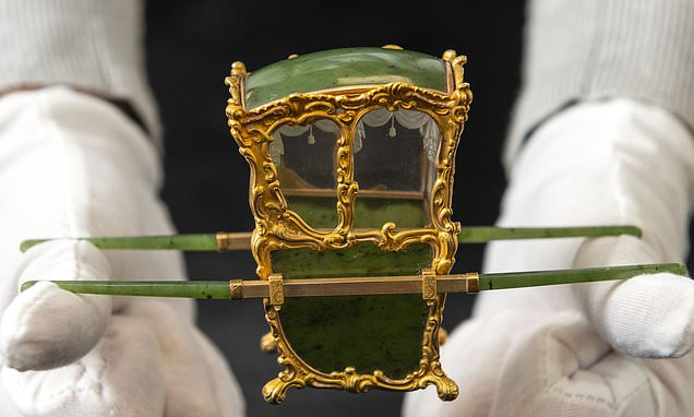 Miniature Faberge sedan chair sells for £480,000 at auction