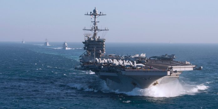 A US Navy carrier strike group is weirdly deploying without its aircraft carrier after it broke down