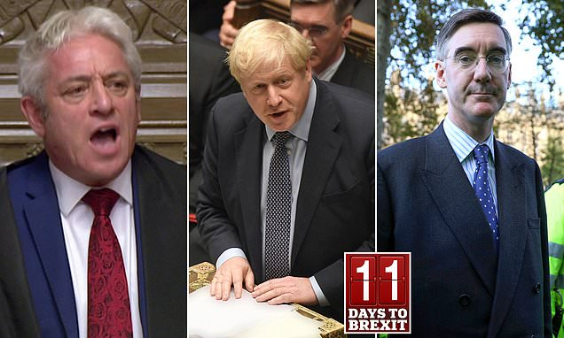 Will John Bercow sabotage Boris Johnson's Brexit plans?