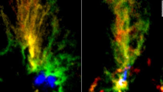 These vivid peacock clouds were created by violent galactic interactions – CNN