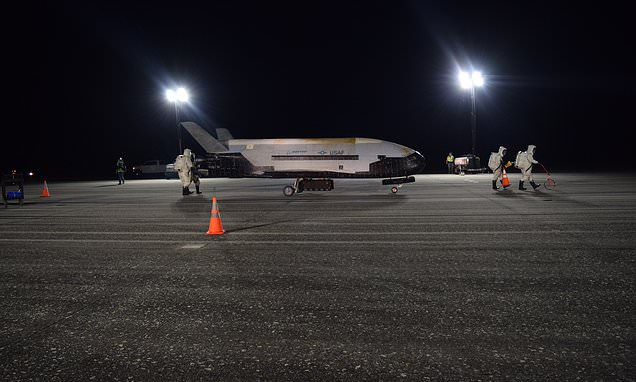 Secretive Air Force X-37B space plane will take off in May and spend more than two years in space – Daily Mail