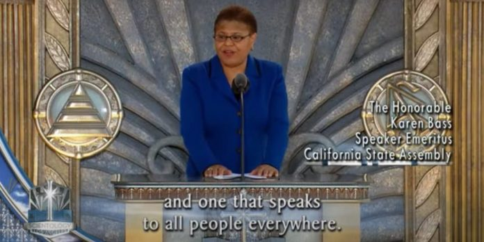 VIDEO: Biden VP contender Karen Bass praises Scientology in 2010 ceremony – Business Insider