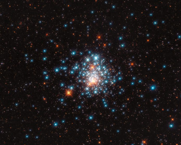 Hubble Eyes a Colorful Pocket of Stars – Orbiting Closely, Like Bees Swarming Around a Hive – SciTechDaily