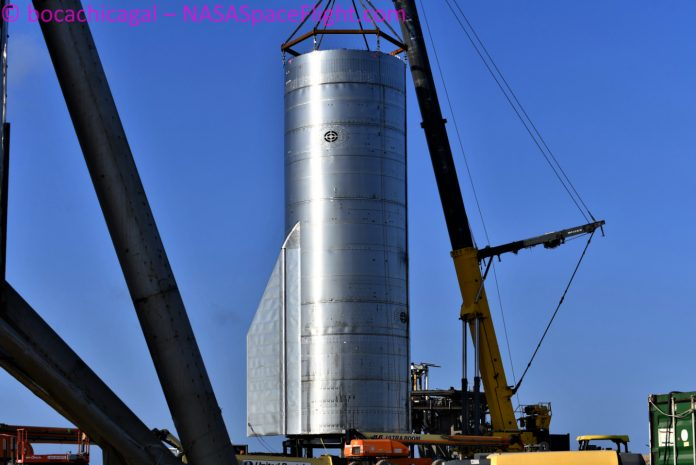 Starship SN8 prepares for test series – First sighting of Super Heavy – NASASpaceflight.com