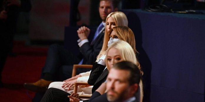 Trump family members did not wear masks during debate with Joe Biden – Business Insider